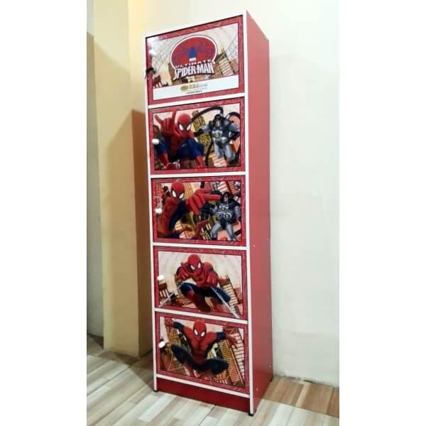 Lemari Kayu Serbaguna 5 Susun Spiderman