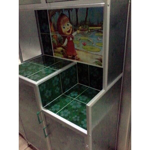 Rak  Piring  Aluminium Magic Com 2  pintu  warna hijau