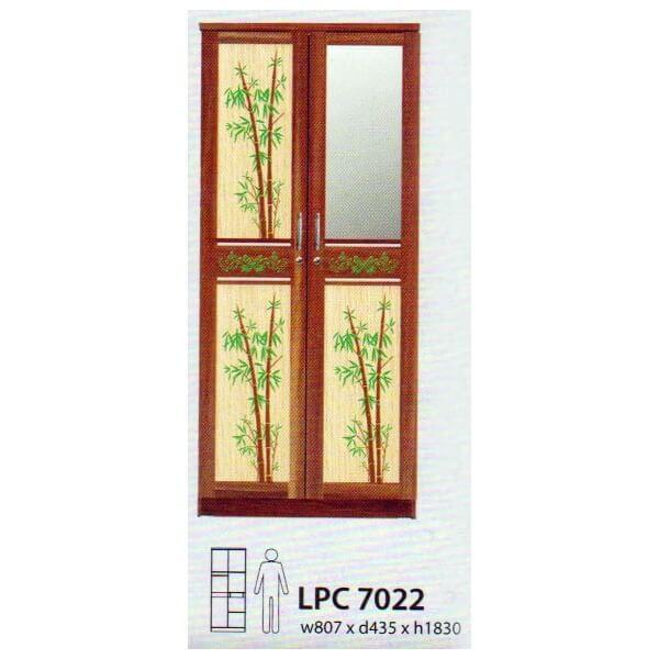 Lemari Pakaian 2 Pintu Kirana Bamboo LPC 7022