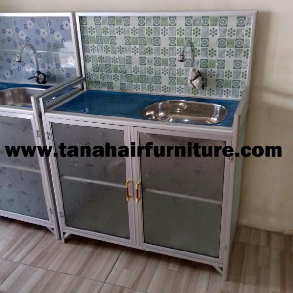 Rak  Cuci  Piring  Aluminium  warna hijau