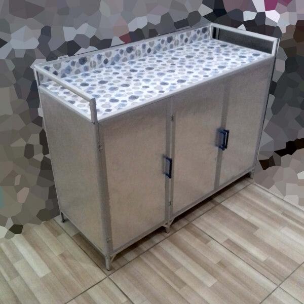 Rak Kompor Gas 3 Pintu Full Aluminium