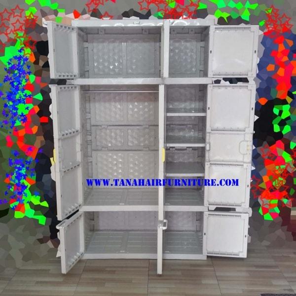 Dalam Lemari 1 Terdapat 4 Kemeja Batik: Lemari Plastik Akako Gantungan A3G 141