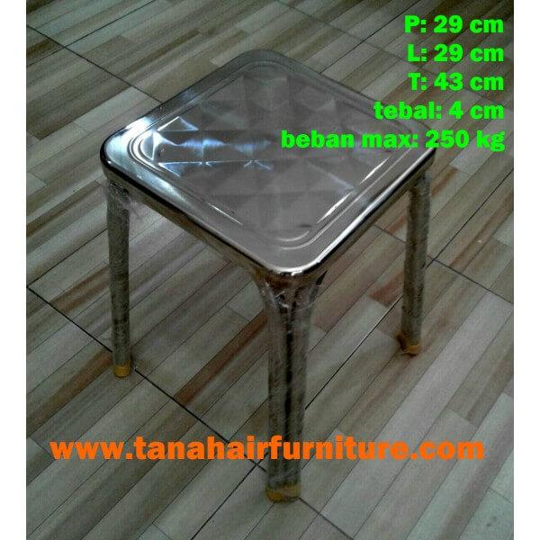 Kursi Baso Persegi Stainless Steel