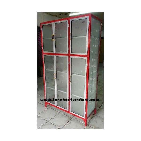 Rak Piring Aluminium Full Box 3 pintu