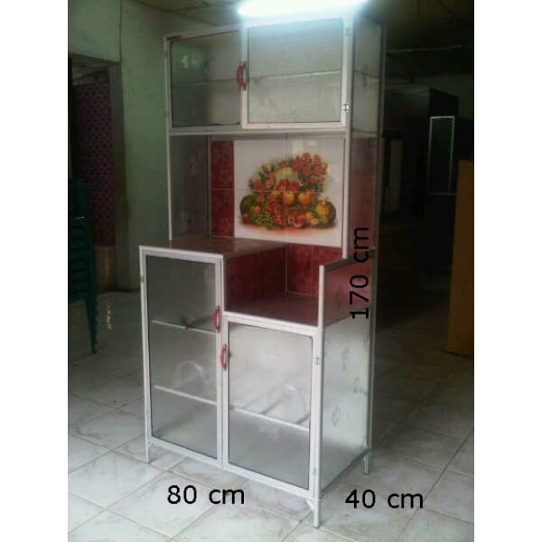 Lemari dapur 2 pintu for Ukuran rak piring kitchen set