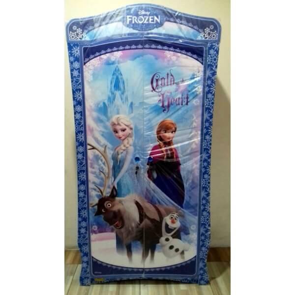 Lemari Pakaian 2 pintu Frozen Snow Flakes - tampak depan