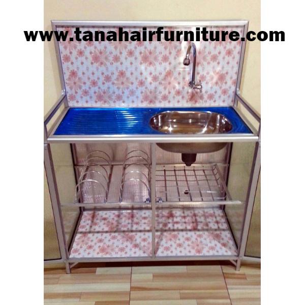 Rak  Cuci  Piring  Aluminium  terbuka